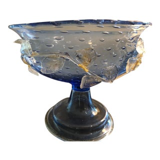 1950s Venetian Glass Compote For Sale