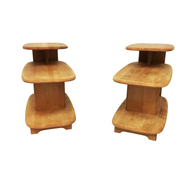 Heywood Wakefield Mid-Century Side Tables - A Pair - Image 1 of 6