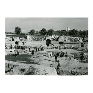Vintage 1950's Photograph the Great Amphitheatre at Carthage Tunis, Tunisia For Sale