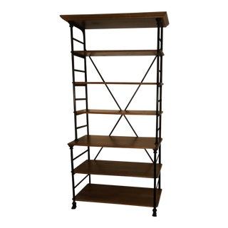Contemporary Au Petite Parisien French Oak and Iron Shelving Unit