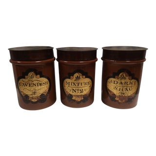 Mercantile Antique Tobacco Jars - Set of 3 For Sale