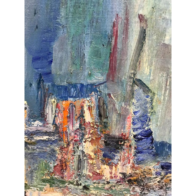 1980s Mid-Century Modern Abstracted Seascape For Sale - Image 5 of 10