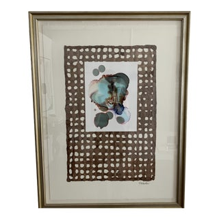 S Wheeler Framed Abstract Watercolor For Sale