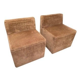 Vladimir Kagan Style Slipper Chairs- A Pair For Sale