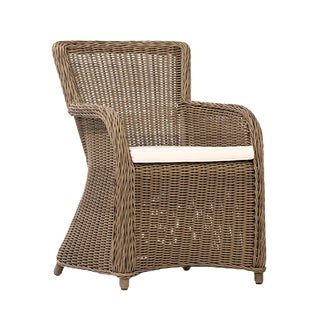 Alberta Outdoor Faux Rattan Chair For Sale
