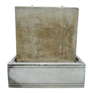 Modern Green Cement Box Fountain For Sale