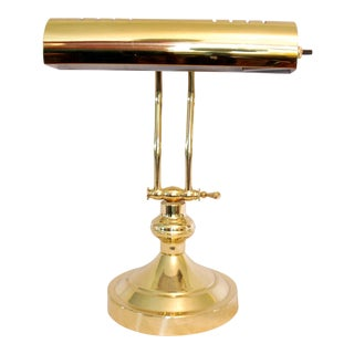 Mid-Century Adjustable Brass Piano Lamp
