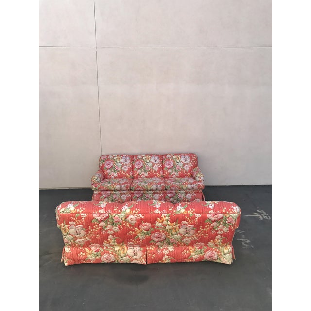 Vintage Floral Morris James Sofas - A Pair For Sale In Los Angeles - Image 6 of 11