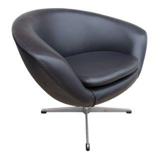 Mid Century Modern Overman of Sweden Black Pod Chair For Sale