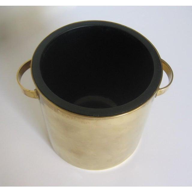 Mid-Century Italian Brass & Teak Ice Bucket - Image 10 of 13