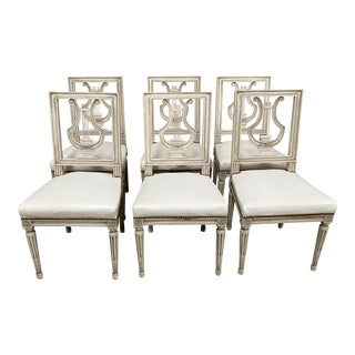 Neoclassical Italian Dining Chairs - Set of Six For Sale