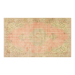 """Vintage Turkish Oushak Hand Knotted Organic Wool Fine Weave Rug,5'2""""x9' For Sale"""