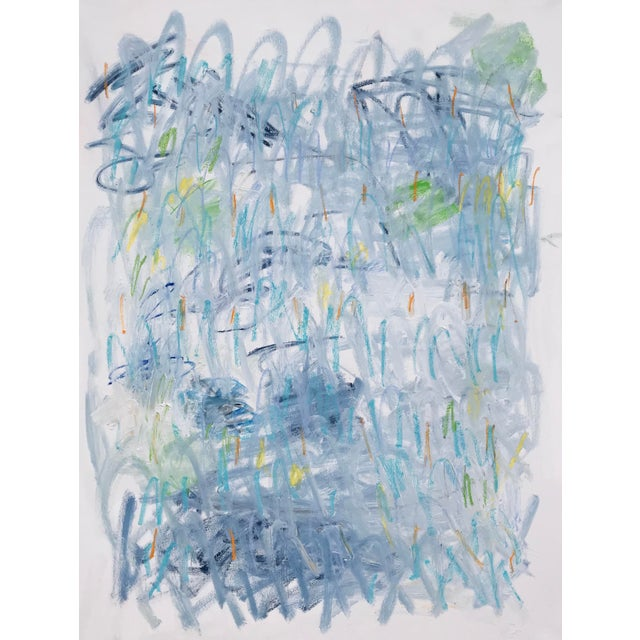 "Sarah Trundle Contemporary Abstract Painting, ""Across the Pond"" For Sale - Image 6 of 6"
