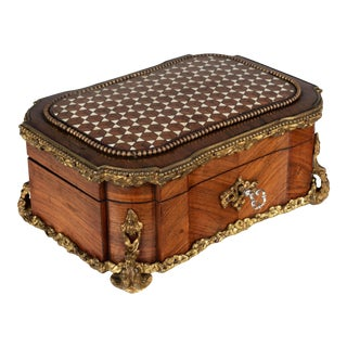 19th Century French Napoleon III Marquetry Box For Sale