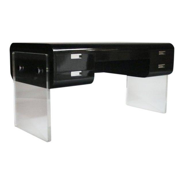 Pace Floating Desk on Lucite Frame For Sale