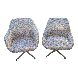 Mid Century Modern Overman-Styled Pod Chairs- a Pair For Sale