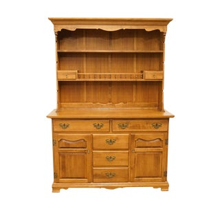 "Tell City Young Republic Maple Andover Finish 52"" Buffet W. Hutch Top For Sale"