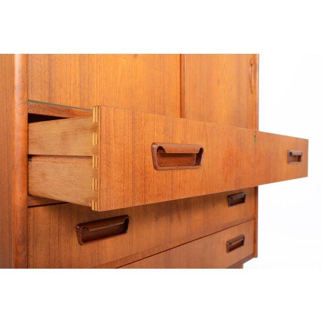 Teak Tibergaard Danish Modern Teak Bureau Dresser For Sale - Image 7 of 10