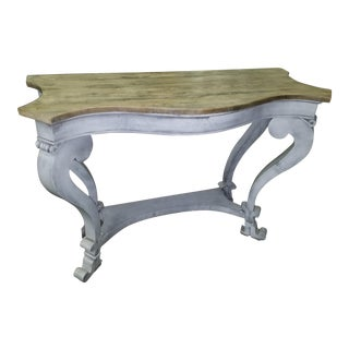 Scalloped Edged Console