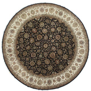 RugsinDallas Round Hand Knotted Wool Rug - 11′9″ × 12′ For Sale