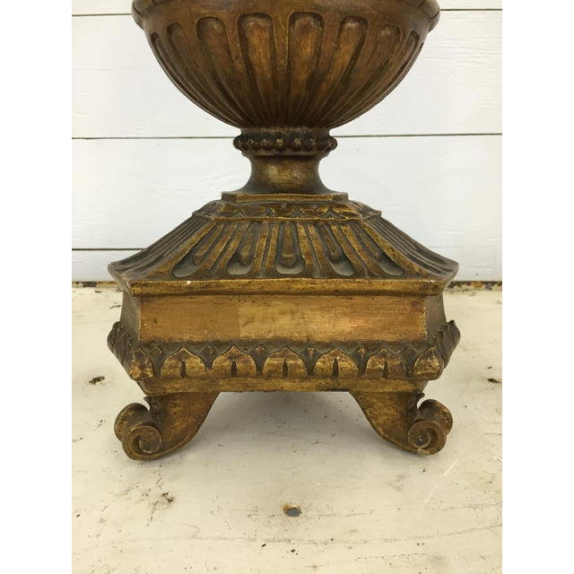 20th Century French Carved Lamp For Sale - Image 4 of 6