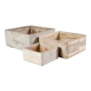1960s Fiber Concrete Planters for Eternit- Set of 3 For Sale