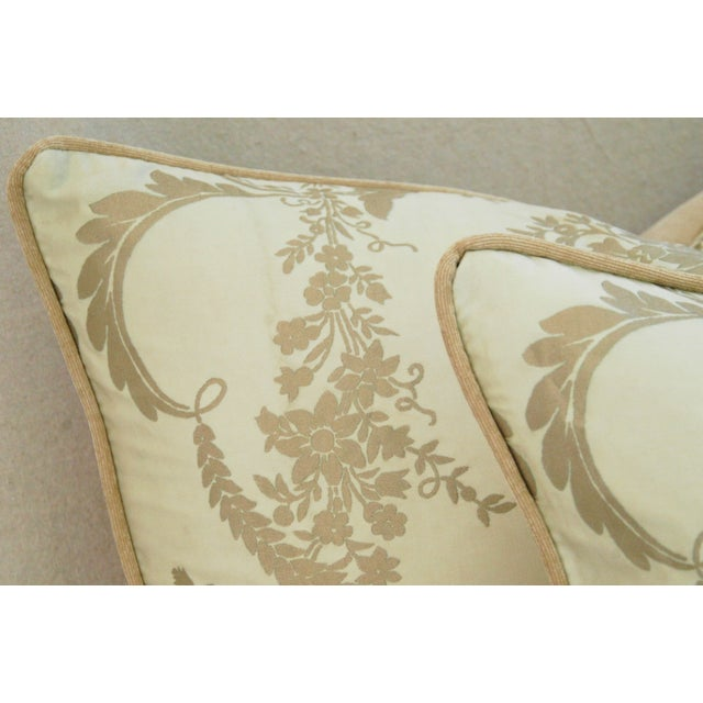 Custom Italian Fortuny Lamballe Pillows - Pair - Image 9 of 11