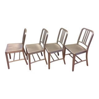 Set of 4 -Emeco Navy Chairs - Original For Sale