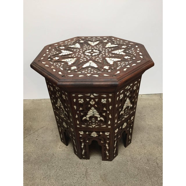 Mid 20th Century Syrian Mother-Of-Pearl Inlaid Side Table For Sale - Image 5 of 13
