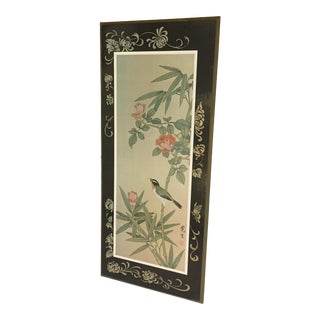 1979 Japanese Botanical Wall Plaque For Sale