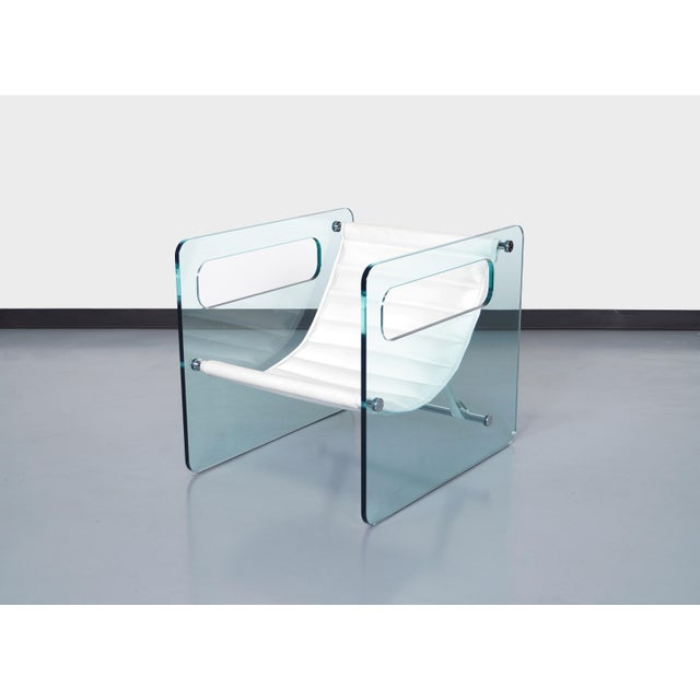 """Animal Skin Italian """"Naked Glass Lounge Chairs by Giovanni Tommaso For Sale - Image 7 of 10"""
