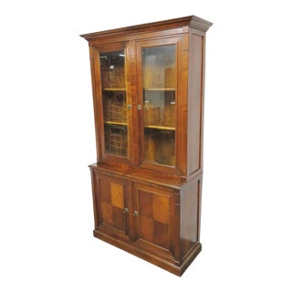 Geka Italian Style Cherry Stepback Bookcase For Sale