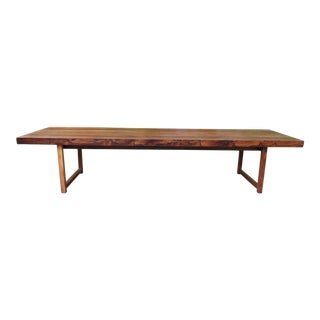 1960s Mid Century Modern Milo Baughman for Thyer Coggin Rosewood Bench/Coffee Table For Sale