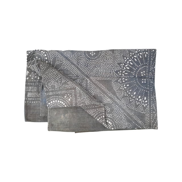 Rare Silver Batik Homespun Panel Throw - Image 1 of 5