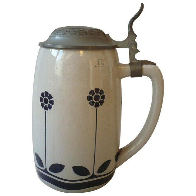 Art Nouveau German Beer Stein by Peter Behrens For Sale - Image 12 of 12