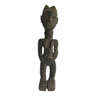 Baule Spirit Spouse Carved Male Figure - Cote D'Ivoire, Early 20th Century For Sale