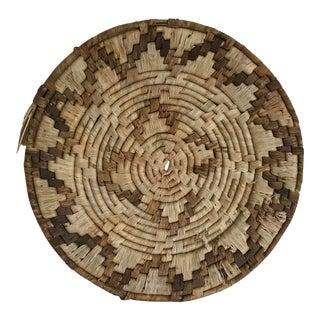 Vintage Navajo Patterned Flat Basket
