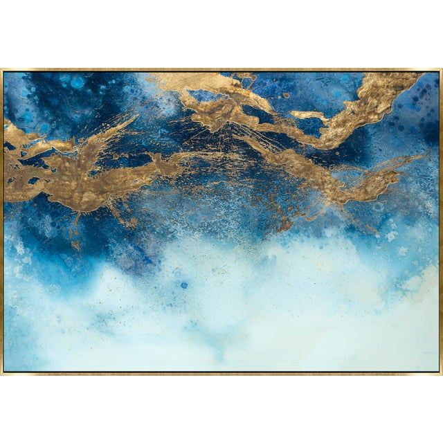 Kenneth Ludwig Print on Canvas, Seascape With Gold IV by Dawn Sweitzer For Sale