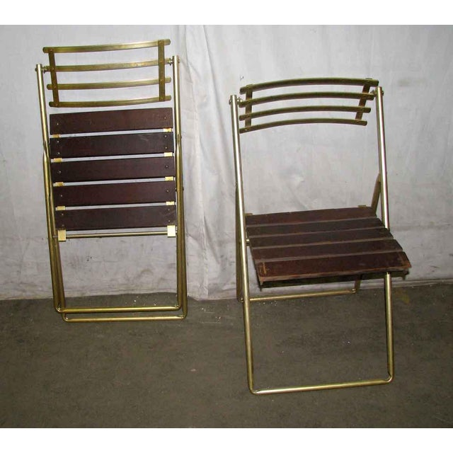 Gold Mid-Century Modern Folding Chair For Sale - Image 8 of 10