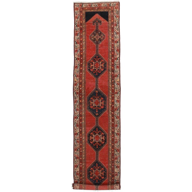 """Antique Persian Malayer Runner - 3' X 16'5"""" For Sale"""