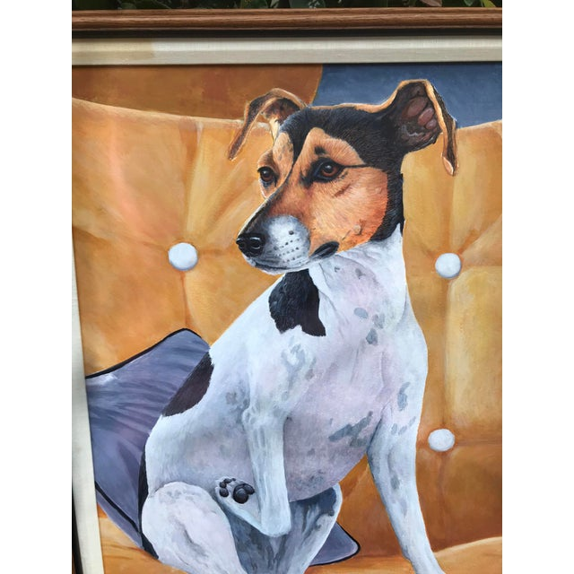 We love this precious pup! Original painting of a Jack Russel Terrier. Beautifully framed. Signed by the artist. Available...