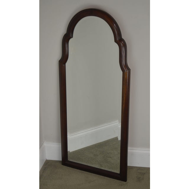 Hickory Chair Furniture Company Hickory Chair Co. Pair Solid Mahogany Frame Arch Top Beveled Mirrors For Sale - Image 4 of 13