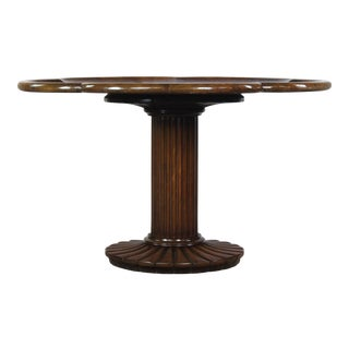 Traditional Mahogany Pedestal Table For Sale