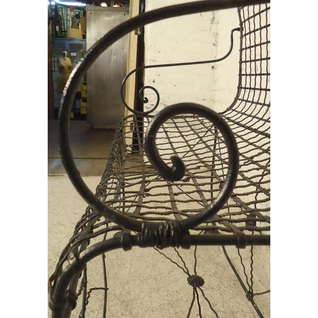Decorative Wrought Iron Bench For Sale In New York - Image 6 of 7