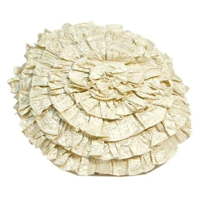 Anne Gish Pillow with Ruffles in White - Image 1 of 2