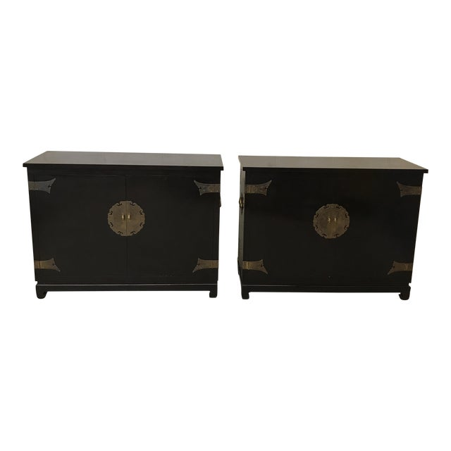 Black Lacquered Ming Style Chests by Cathay Arts Co., Hong Kong - A Pair - Image 1 of 11