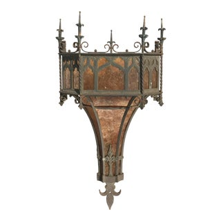 19th Century Gothic Revival Wall Sconce For Sale