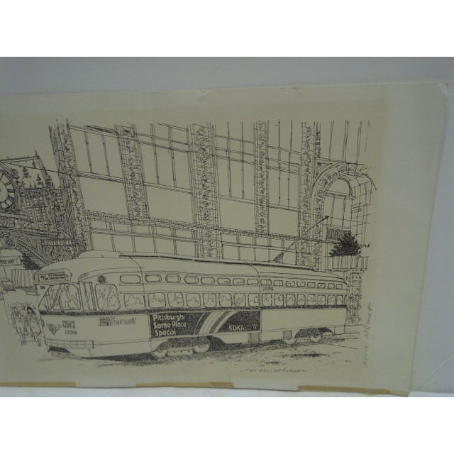 Pittsburgh PAT Transit Cable Car Print For Sale - Image 5 of 6