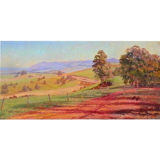 Australian Green Meadows by James Wilmot For Sale