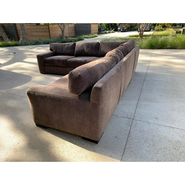 2000 - 2009 Designer Deep Down Blend Sectional Sofa For Sale - Image 5 of 12